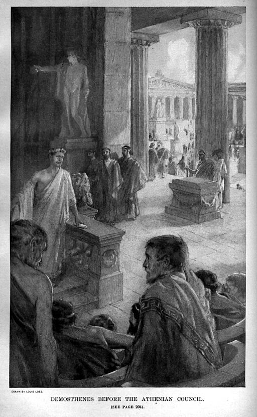 512px-Demosthenes_before_the_Athenian_Council_by_Louis_Loeb_-1898-